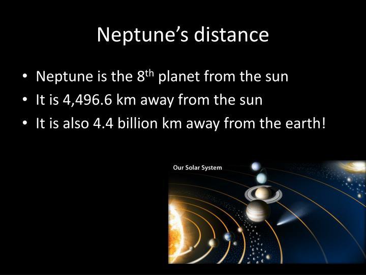 Neptune's distance