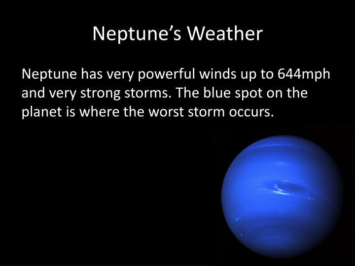 Neptune's Weather