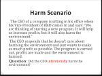 harm scenario