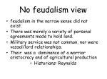 no feudalism view