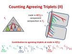 counting agreeing triplets ii