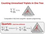 counting unresolved triplets in one tree