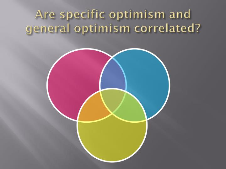 Are specific optimism and general optimism correlated?