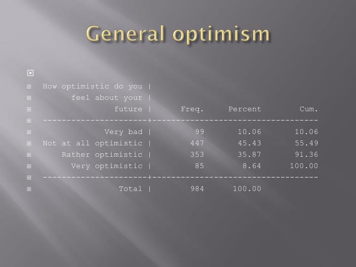 General optimism