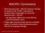 macro conclusions