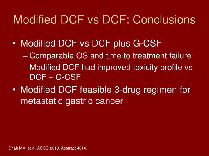 Modified DCF vs DCF: Conclusions
