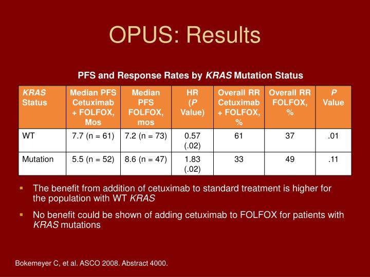 OPUS: Results