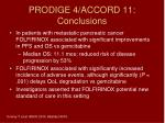 prodige 4 accord 11 conclusions