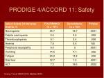 prodige 4 accord 11 safety