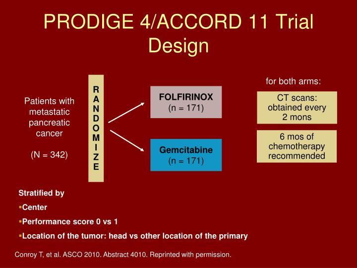 PRODIGE 4/ACCORD 11 Trial Design