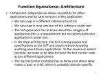 function equivalence architecture