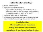 is this the future of testing