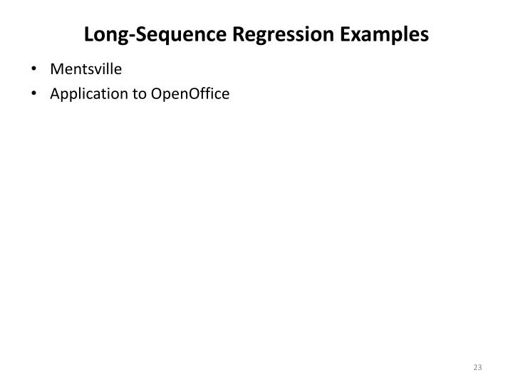 Long-Sequence Regression Examples
