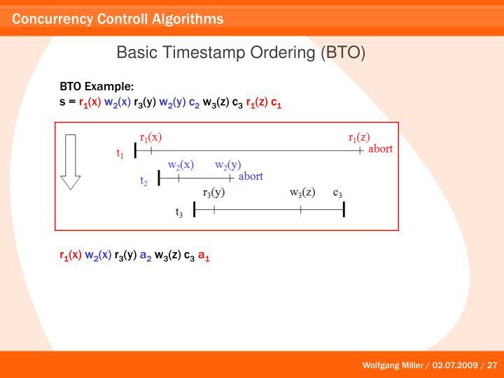Basic Timestamp Ordering (BTO)