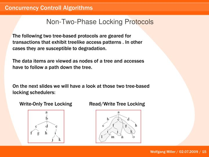 Non-Two-Phase Locking Protocols