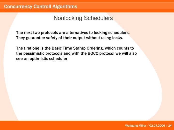 Nonlocking Schedulers