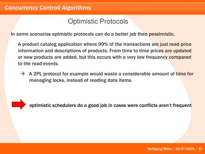 Optimistic Protocols
