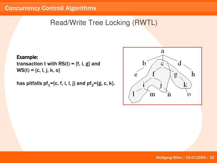 Read/Write Tree Locking (RWTL)