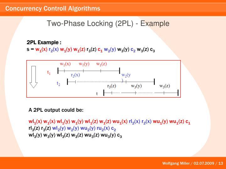 Two-Phase Locking (2PL) - Example