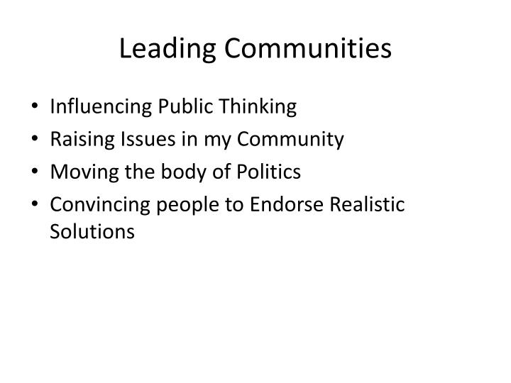 Leading Communities