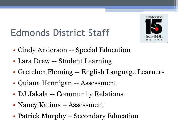 Edmonds district staff