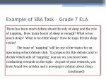 example of sba task grade 7 ela