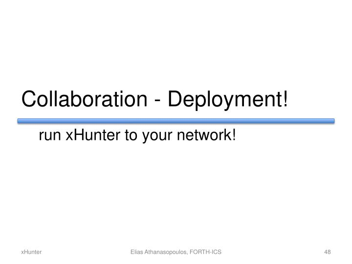 Collaboration - Deployment!