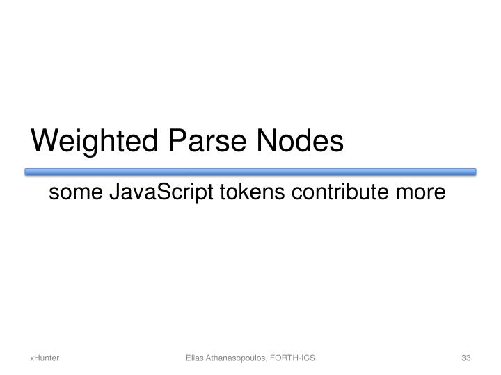 Weighted Parse Nodes