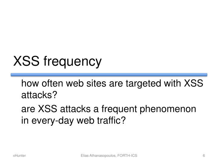 XSS frequency