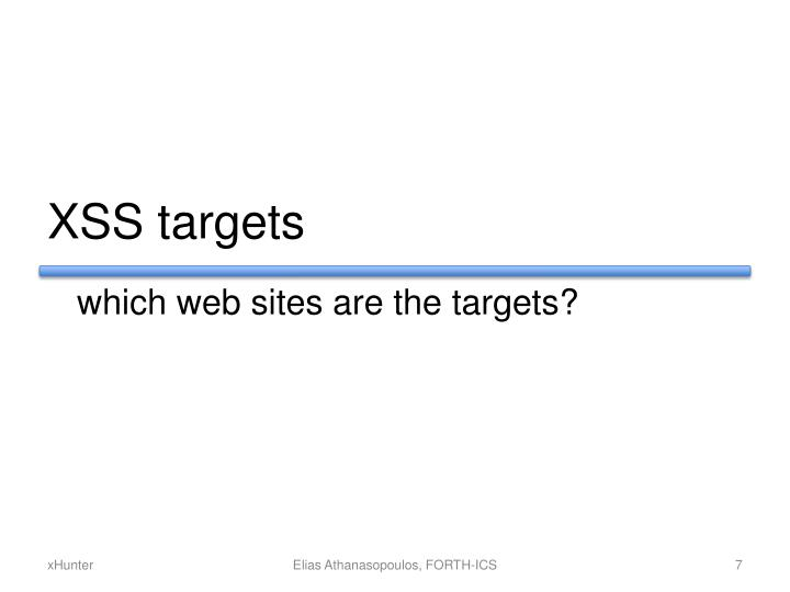 XSS targets