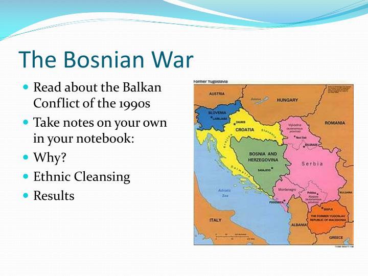 The Bosnian War