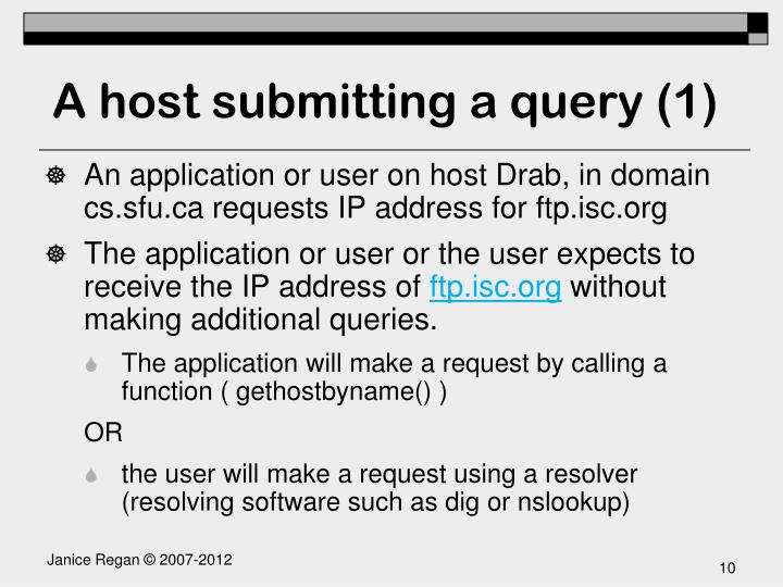 A host submitting a query (1)
