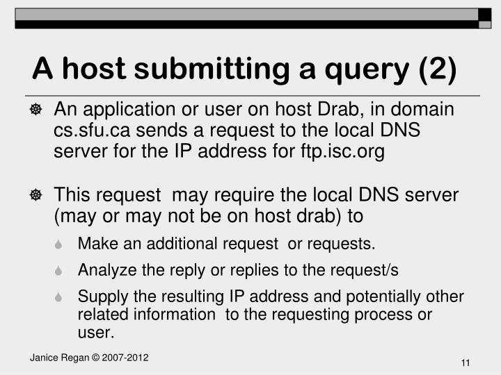 A host submitting a query (2)