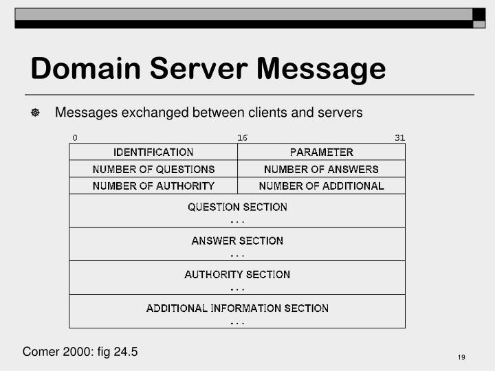 Domain Server Message