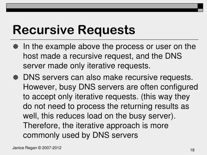 Recursive Requests