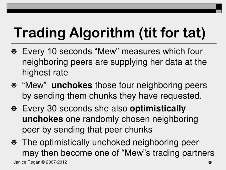 Trading Algorithm (tit for tat)