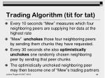 trading algorithm tit for tat