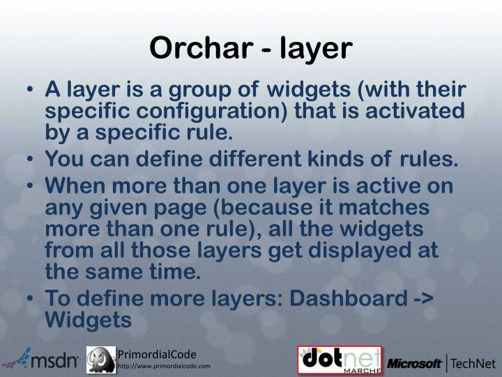 Orchar - layer