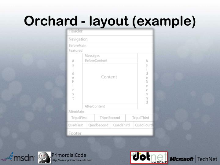 Orchard - layout (example)