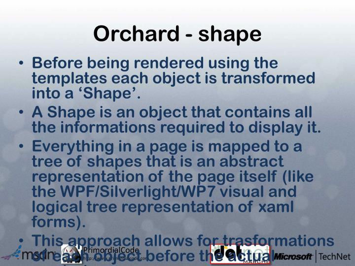 Orchard - shape