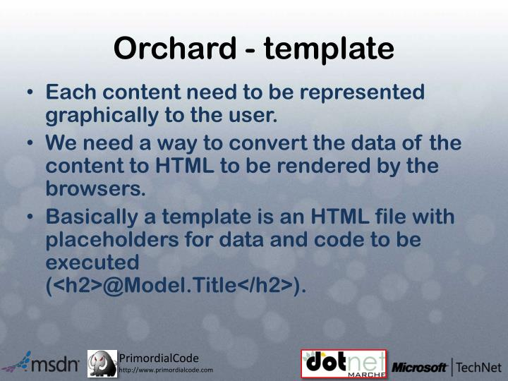 Orchard - template