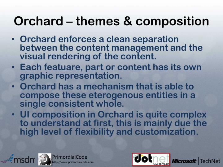 Orchard – themes & composition