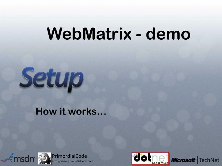 WebMatrix - demo