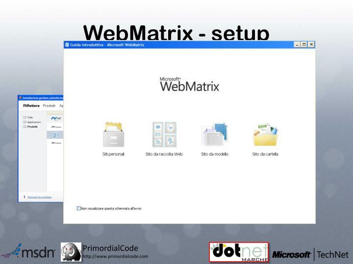 WebMatrix - setup