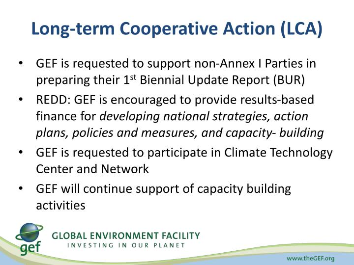 Long-term Cooperative Action (LCA)