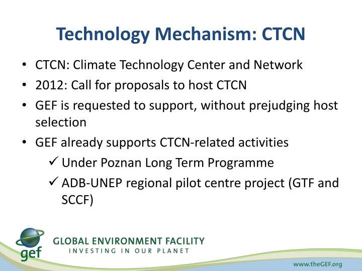 Technology Mechanism: CTCN