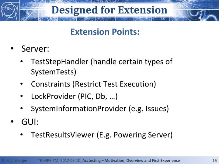Designed for Extension