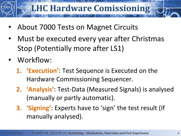LHC Hardware