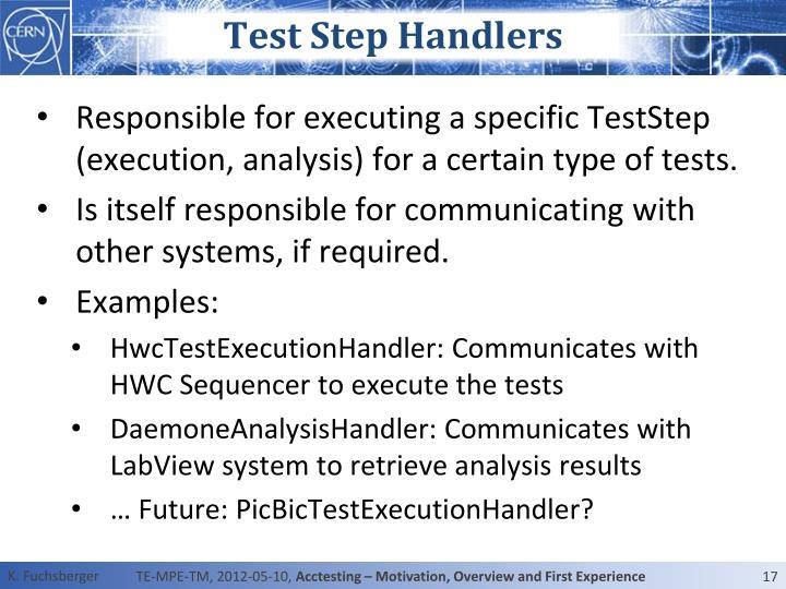 Test Step Handlers