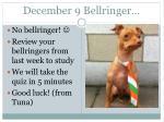 december 9 bellringer